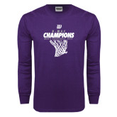 Purple Long Sleeve T Shirt-G-MAC Champions - Mens Basketball 2017 Net