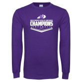Purple Long Sleeve T Shirt-GMAC Softball Champions 2017 Plate