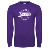 Purple Long Sleeve T Shirt-GMAC Baseball Champions 2017