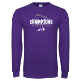 Purple Long Sleeve T Shirt-2017 GMAC Baseball Champions 2017