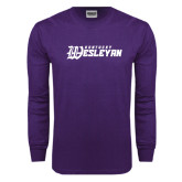 Purple Long Sleeve T Shirt-Kentucky Wesleyan