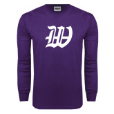 Purple Long Sleeve T Shirt-W