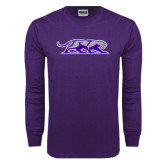 Purple Long Sleeve T Shirt-Panther