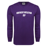 Purple Long Sleeve T Shirt-Arched Kentucky Wesleyan