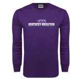 Purple Long Sleeve T Shirt-Kentucky Wesleyan 2 Tone