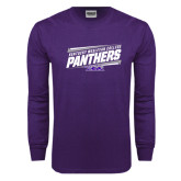 Purple Long Sleeve T Shirt-Slanted Kentucky Wesleyan Panthers