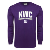 Purple Long Sleeve T Shirt-Arched KWC Panthers