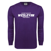 Purple Long Sleeve T Shirt-Football