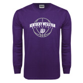 Purple Long Sleeve T Shirt-Kentucky Wesleyan Basketball Arched