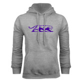 Grey Fleece Hoodie-Panther