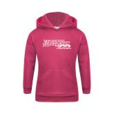 Youth Raspberry Fleece Hoodie-Primary Logo
