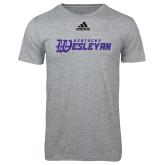 Adidas Sport Grey Logo T Shirt-Kentucky Wesleyan