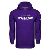 Under Armour Purple Performance Sweats Team Hoodie-Baseball