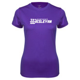 Ladies Syntrel Performance Purple Tee-Kentucky Wesleyan