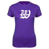 Ladies Syntrel Performance Purple Tee-W