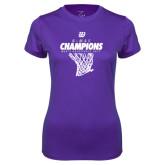 Ladies Syntrel Performance Purple Tee-G-MAC Champions - Mens Basketball 2017 Net
