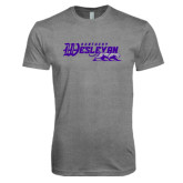 Next Level Premium Heather Tri Blend Crew-Primary Logo
