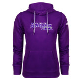 Adidas Climawarm Purple Team Issue Hoodie-Primary Logo