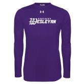Under Armour Purple Long Sleeve Tech Tee-Kentucky Wesleyan