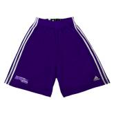 Adidas Climalite Purple Practice Short-Primary Logo