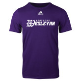 Adidas Purple Logo T Shirt-Kentucky Wesleyan