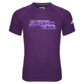 Adidas Climalite Purple Ultimate Performance Tee-Primary Logo