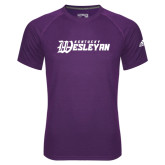 Adidas Climalite Purple Ultimate Performance Tee-Kentucky Wesleyan