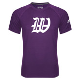 Adidas Climalite Purple Ultimate Performance Tee-W