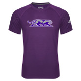 Adidas Climalite Purple Ultimate Performance Tee-Panther