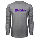 Grey Long Sleeve T Shirt-Kentucky Wesleyan