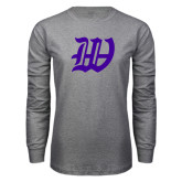 Grey Long Sleeve T Shirt-W