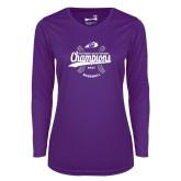 Ladies Syntrel Performance Purple Longsleeve Shirt-GMAC Baseball Champions 2017