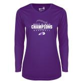 Ladies Syntrel Performance Purple Longsleeve Shirt-2017 GMAC Baseball Champions 2017