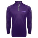 Under Armour Purple Tech 1/4 Zip Performance Shirt-Primary Logo