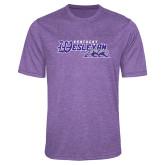Performance Purple Heather Contender Tee-Primary Logo