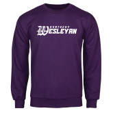 Purple Fleece Crew-Kentucky Wesleyan