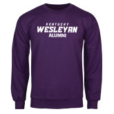 Purple Fleece Crew-Alumni