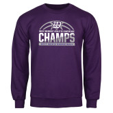 Purple Fleece Crew-Great Midwest Athletic Conference Champs - 2017 Mens Basketball Half Ball