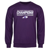 Purple Fleece Crew-Great Midwest Athletic Conference Champions - Mens Basketball 2017 Stencil