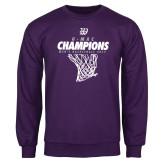 Purple Fleece Crew-G-MAC Champions - Mens Basketball 2017 Net