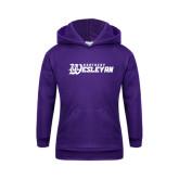 Youth Purple Fleece Hoodie-Kentucky Wesleyan