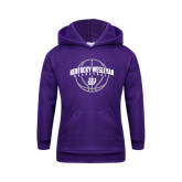 Youth Purple Fleece Hoodie-Kentucky Wesleyan Basketball Arched