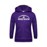 Youth Purple Fleece Hoodie-Kentucky Wesleyan Football w/ Ball