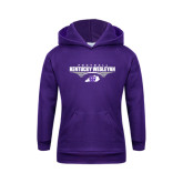 Youth Purple Fleece Hoodie-Kentucky Wesleyan Football Stacked