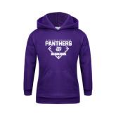 Youth Purple Fleece Hoodie-Panthers Baseball Diamond