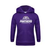 Youth Purple Fleece Hoodie-Panthers Soccer Half Ball