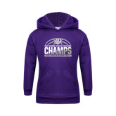 Youth Purple Fleece Hoodie-Great Midwest Athletic Conference Champs - 2017 Mens Basketball Half Ball