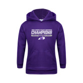 Youth Purple Fleece Hoodie-Great Midwest Athletic Conference Champions - Mens Basketball 2017 Stencil