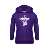 Youth Purple Fleece Hoodie-G-MAC Champions - Mens Basketball 2017 Net