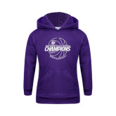 Youth Purple Fleece Hoodie-Great Midwest Athletic Conference Champions - 2017 Mens Basketball Lined Ball